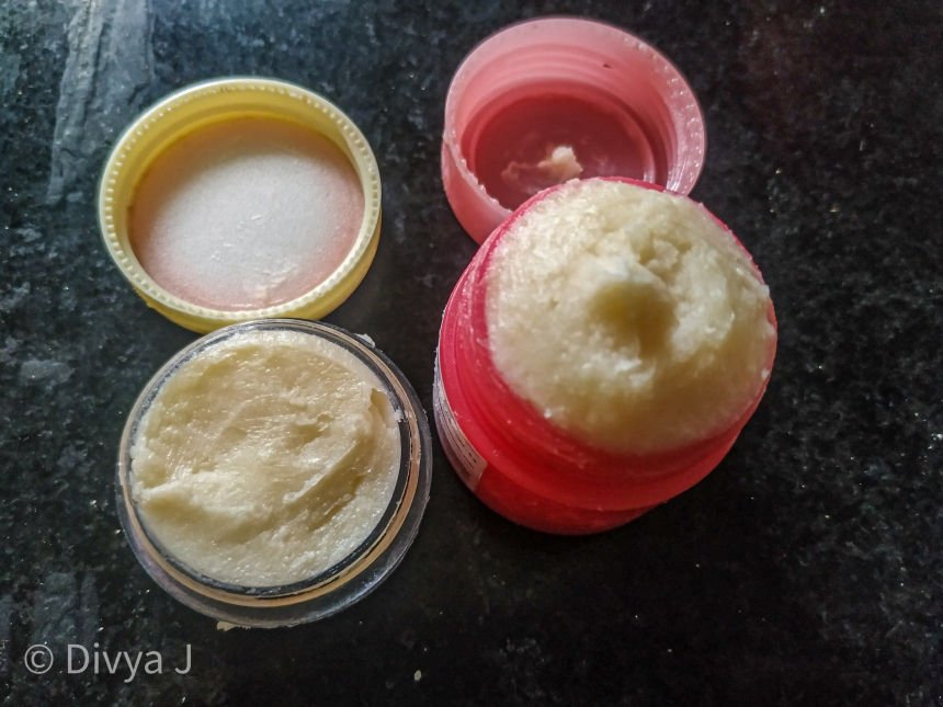 Diy lip bam Beeswax Coconut Oil Shea and cocoa butter