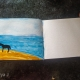 Horse on a beach- Watercolor painting on A7 Size Sketchbook