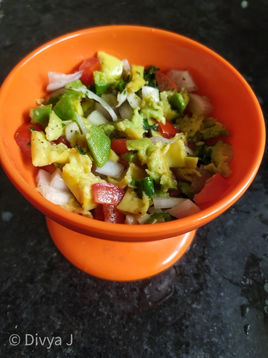 Guacamole Salad Avocado salad Indian style