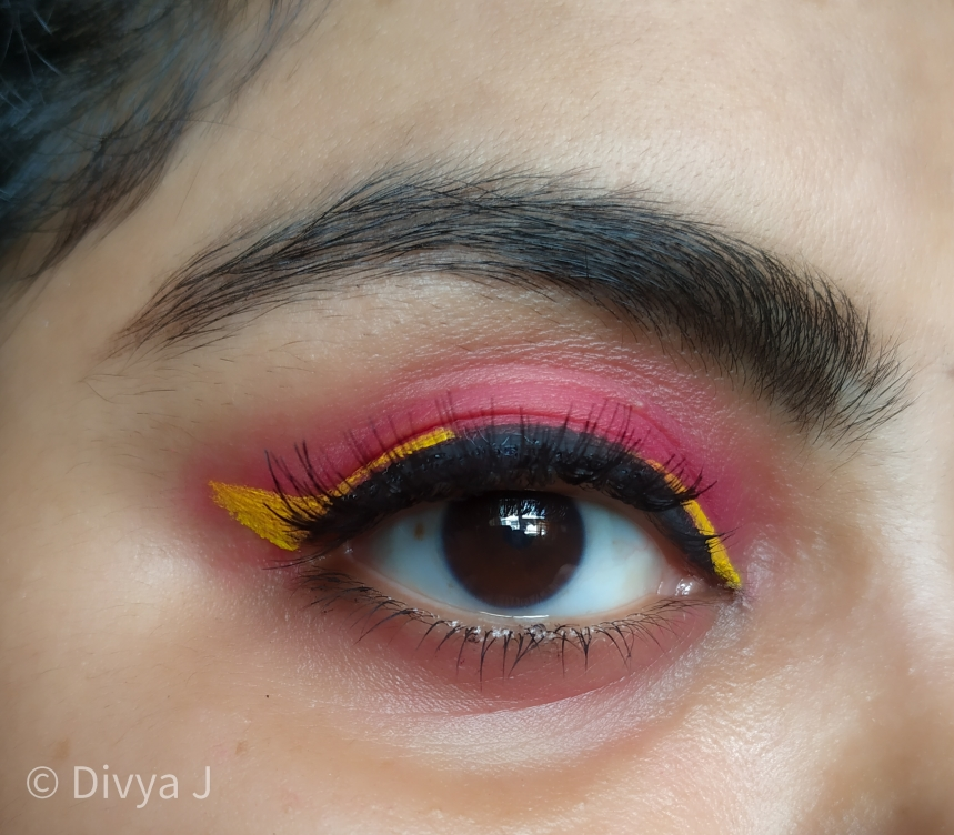 Pac fresh color palette Eyemakeup look using yellow color