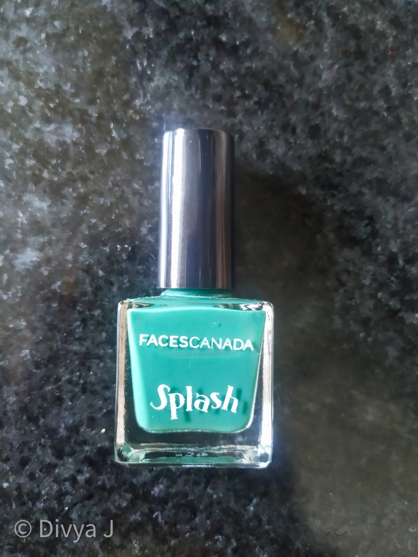 Faces Canada Splash Nail Enamel-Tropical Green bottle shot