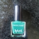Faces Canada Splash Nail Enamel- Tropical Green and a very basic nail art