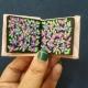 Flower doodle on Black Mini Sketchbook