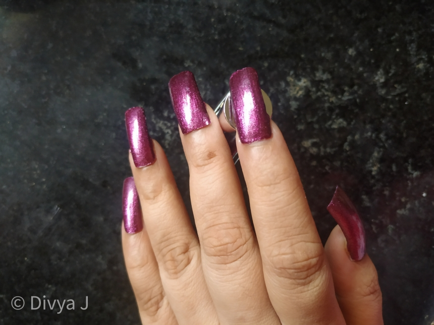 Kyth and kin metallic nail lacquer Purple Haze