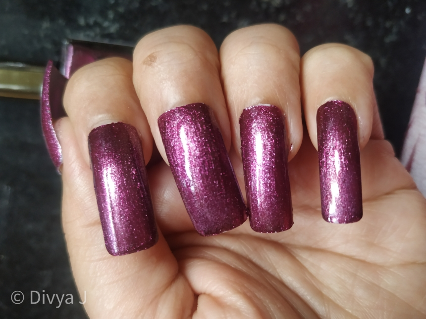 Kyth and kin metallic nail lacquer Purple Haze Swatches