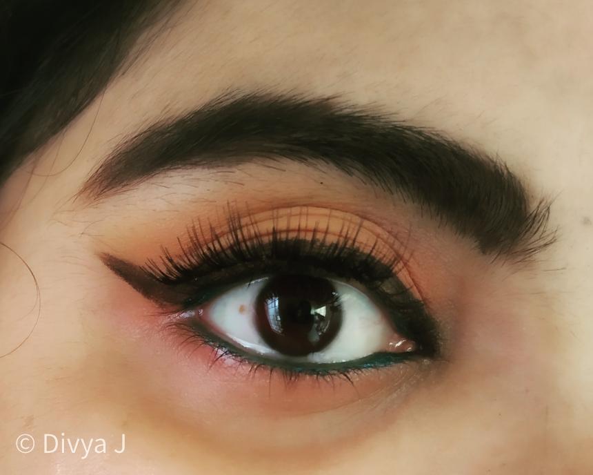 Wing eyeliner done by Himalaya Kajal