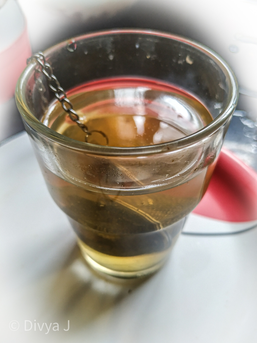 Close shot of Saffron Kahwa Green tea