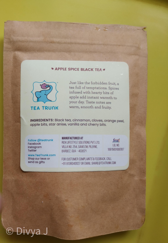 Ingredient list of Tea Trunk Apple spice black tea