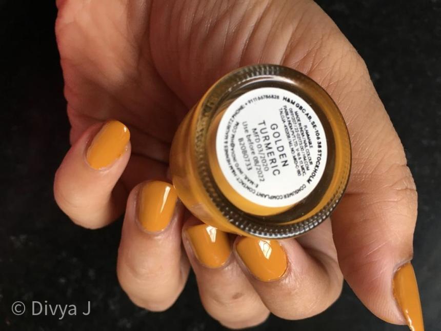 Name shot of H&M Golden Turmeric nail polish