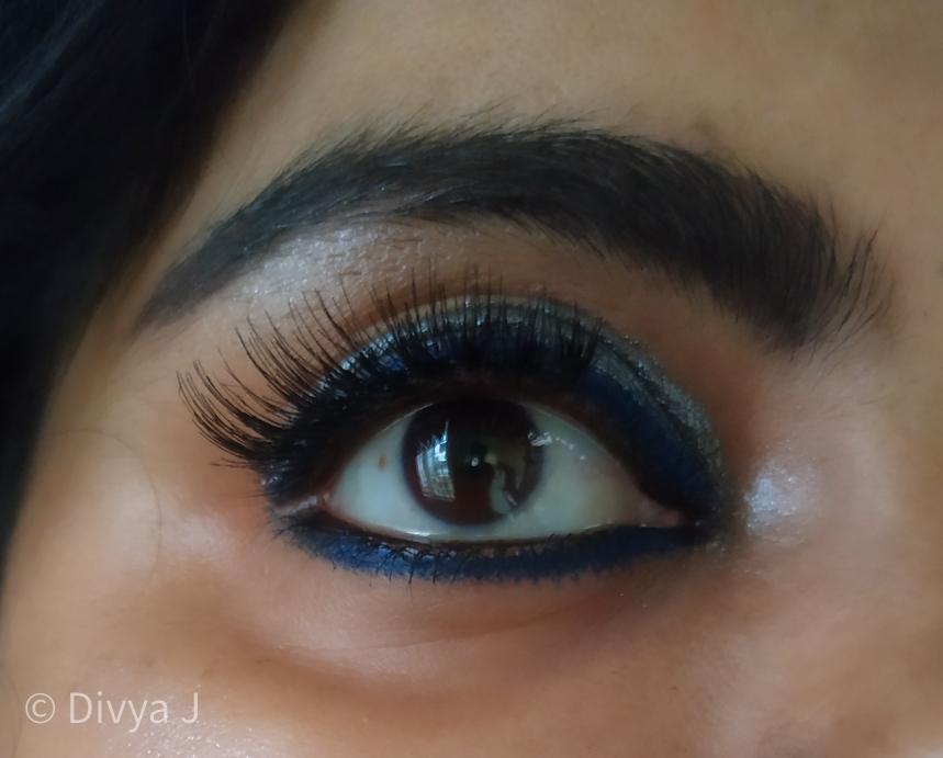 Eyemakeup look using Kay by Katrina Eyeshadow stick navigator and wet n wild Eyeshadow gun metal