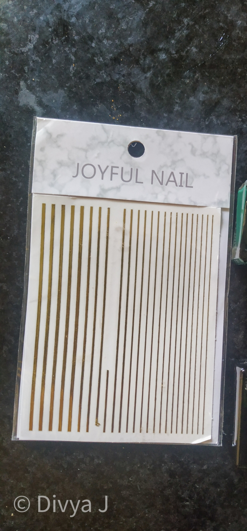 Golden striped sticker for nail art from ilovemypolish
