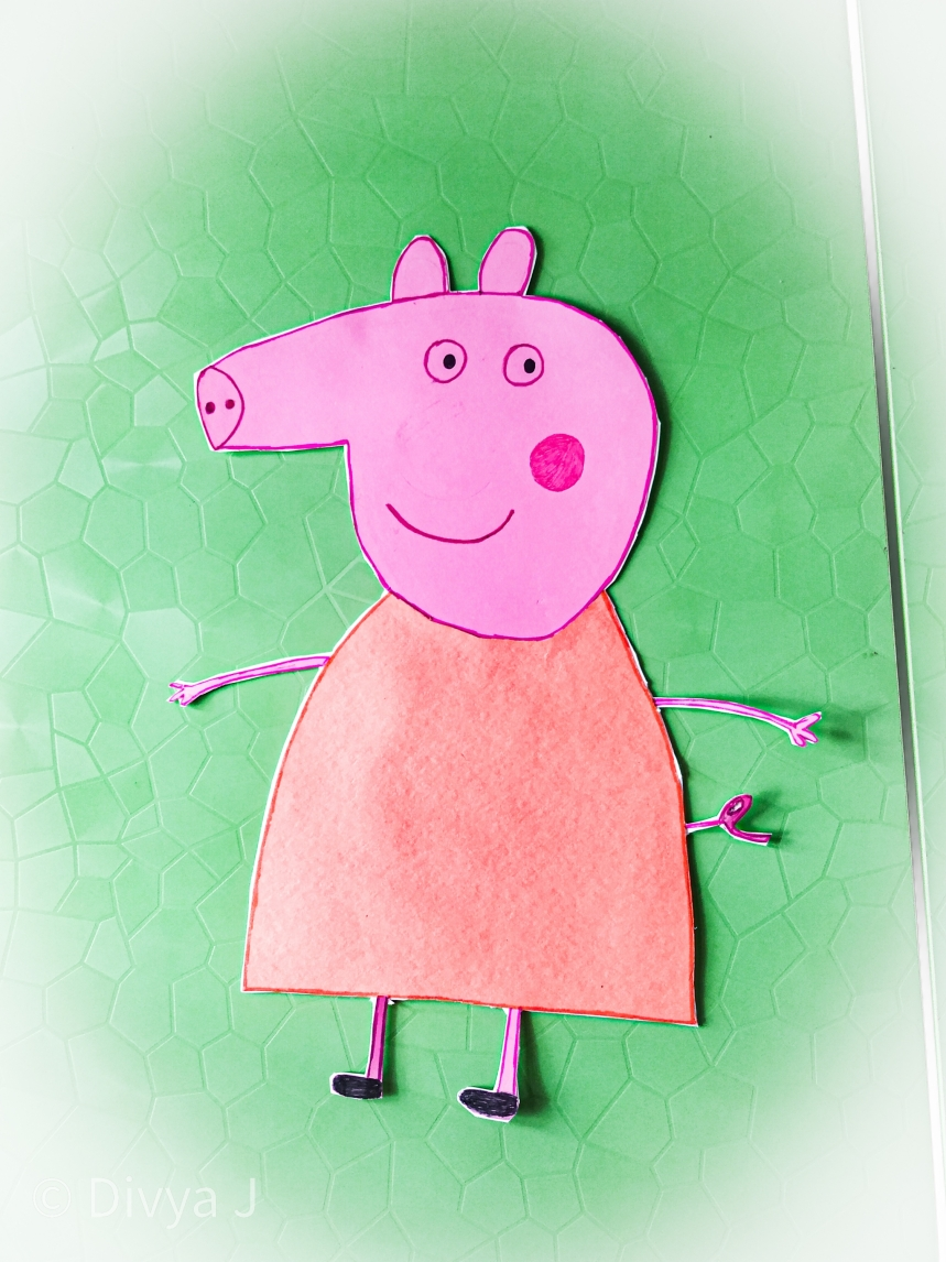 DIY handmade Peppa pig Wall cutout