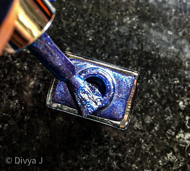 Kyth and kin metallic nail lacquer Pacific Blue
