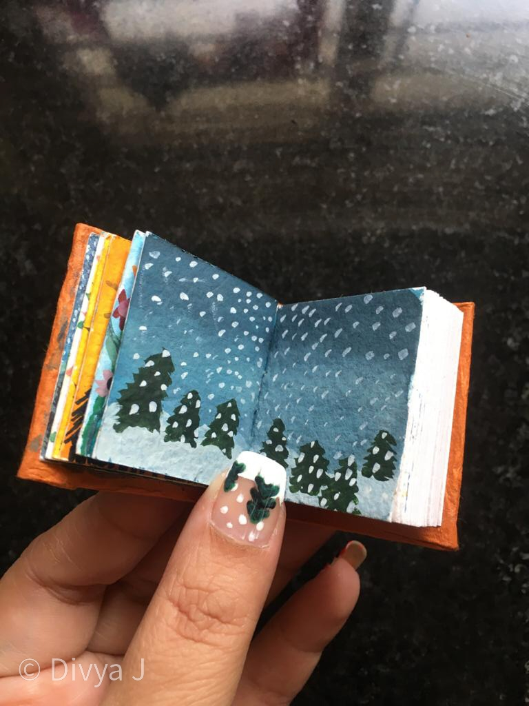 Snow fall mini Watercolor book