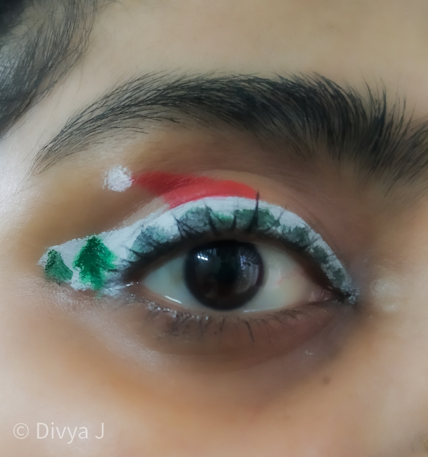 Christmas theme Eye Makeup
