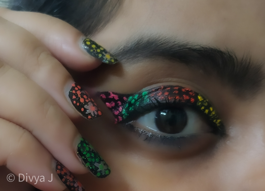 Artistic eye makeup look using PAC fresh color palette