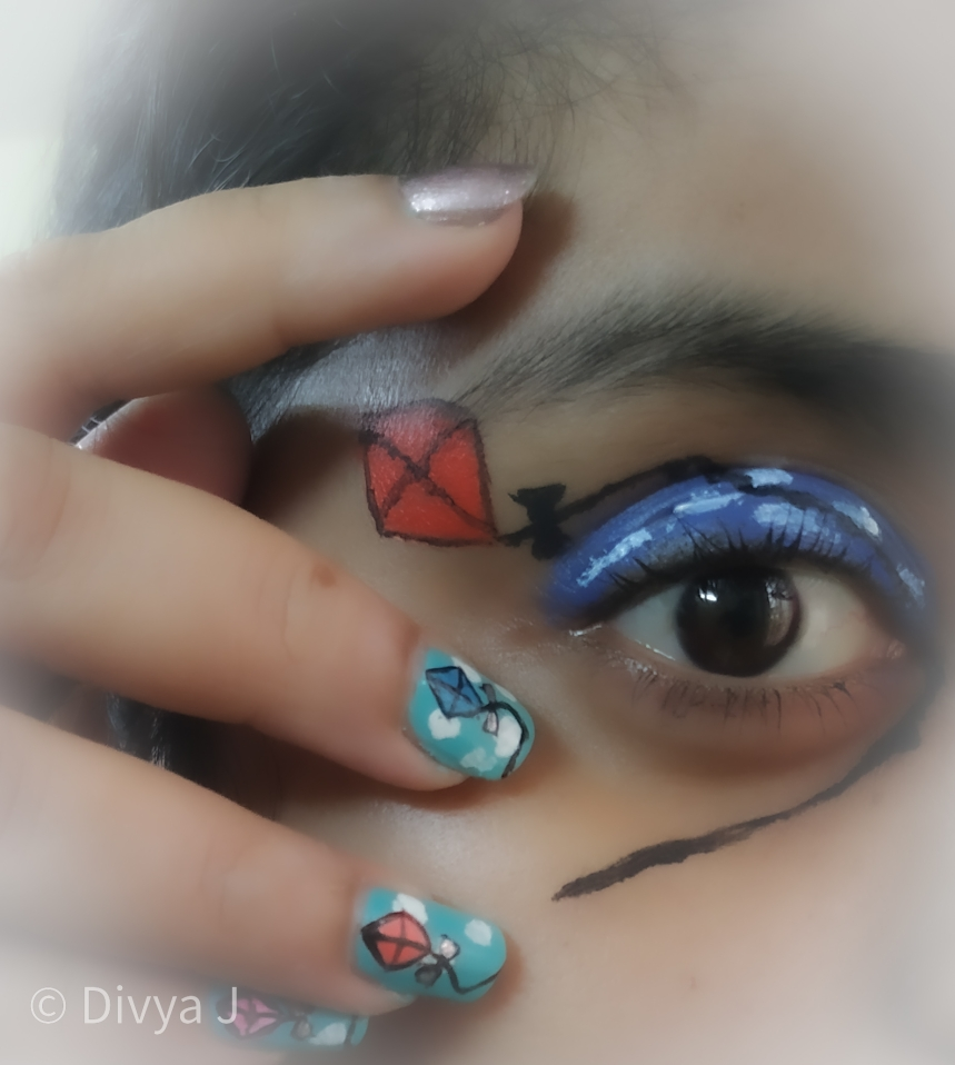 Kites on Sky Eyemakeup Look using PAC Fresh color palette