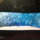 Blue Sky and Snow... Watercolor Painting