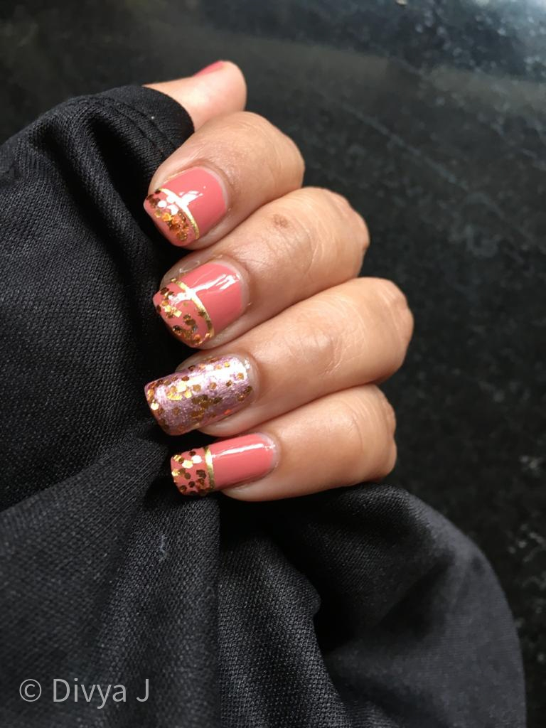 Easy Glitter Nail Art