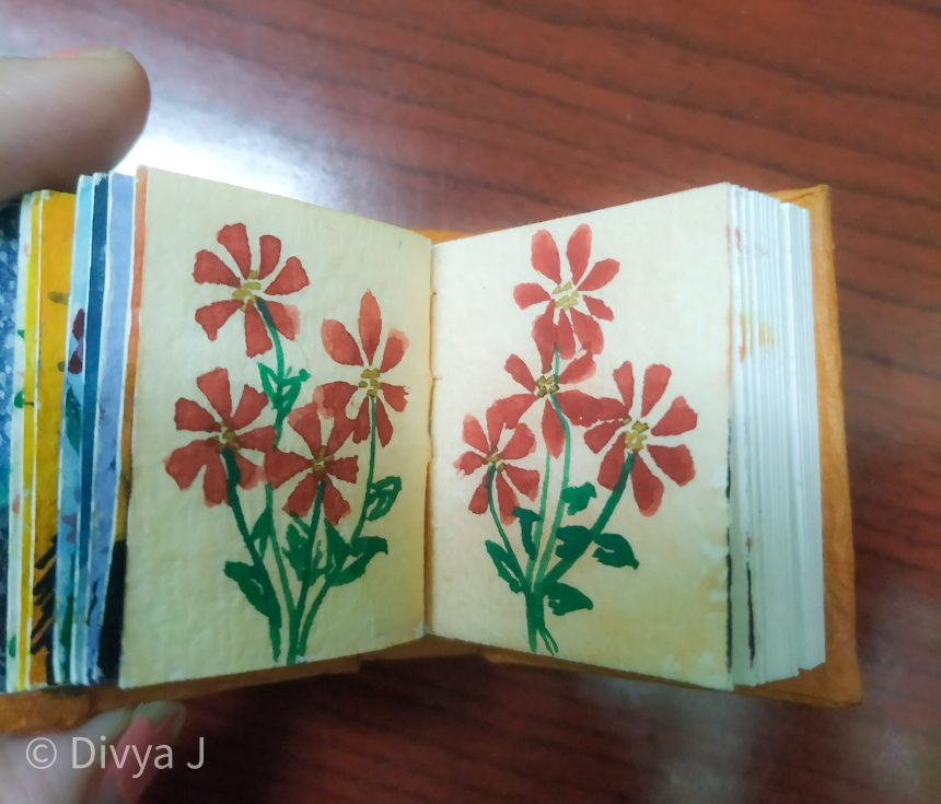 Watercolor painting on Ayush Paper Watercolor book