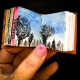 Watercolor Painting Tree and Sky on Mini Watercolor book